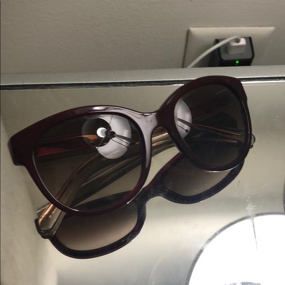 c1e124fe03a7 Burberry Accessories - Burberry burgundy sunglasses